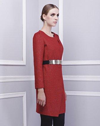 红色梭织连衣裙