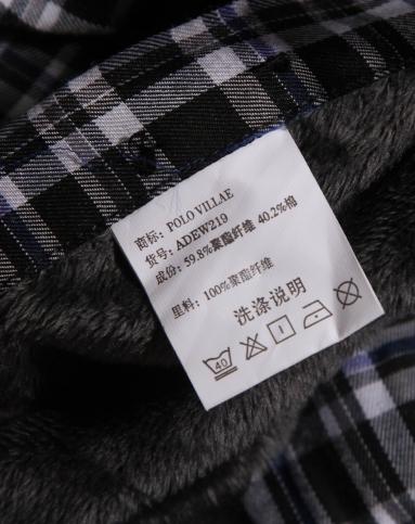 简约经典格子黑白色长袖衬衫
