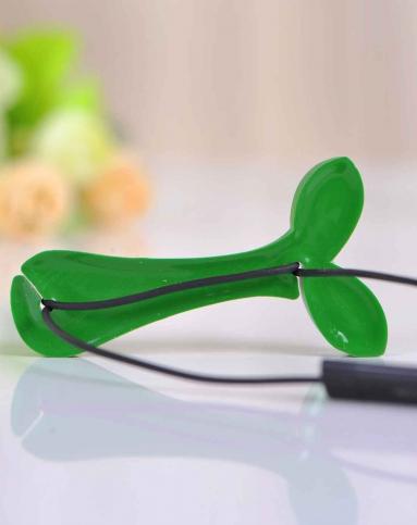 绿色可爱创意小树叶耳机绕线器2枚入