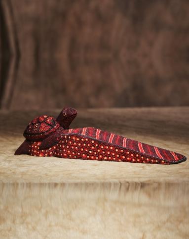 巴厘乌布大师手工木雕点绘门地插《海龟》