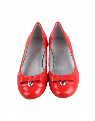 女款红色漆皮鞋-唯品会