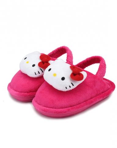 女童糖粉色卡通雪地鞋