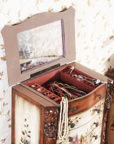 欧式古典风首饰柜珠宝柜