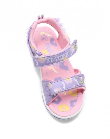 女粉紫沙滩鞋
