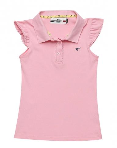 女童粉红t恤