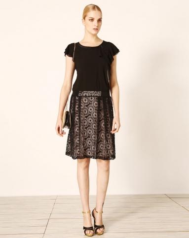黑色蕾丝气质半裙