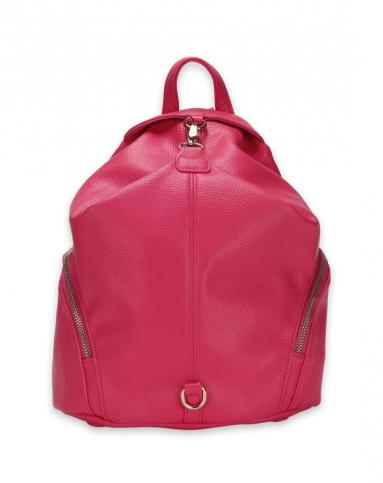 女款玫红聚氨酯复合皮背包图片