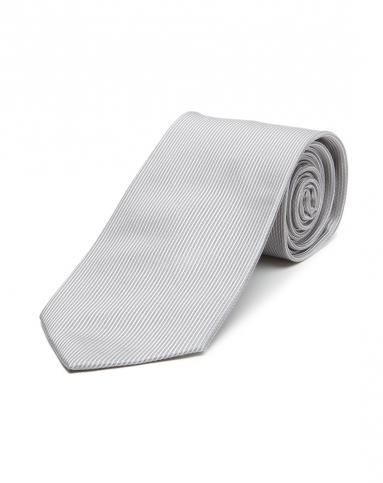 都市百搭竖条纹浅灰色领带