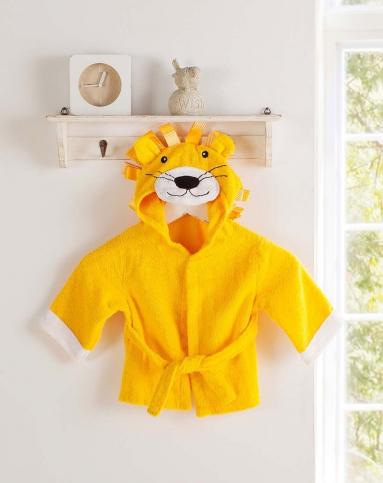 加厚纯棉婴幼儿浴袍披风.狮子
