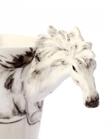 (白马)3d立体纯手绘动物杯