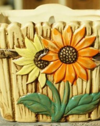 韩国手绘多肉植物小花盆小