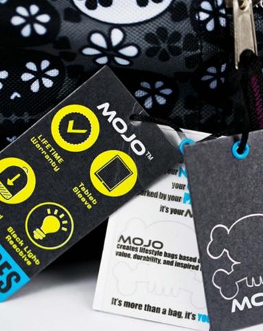 mojo美国潮牌黑白灰头骨创意双肩背包