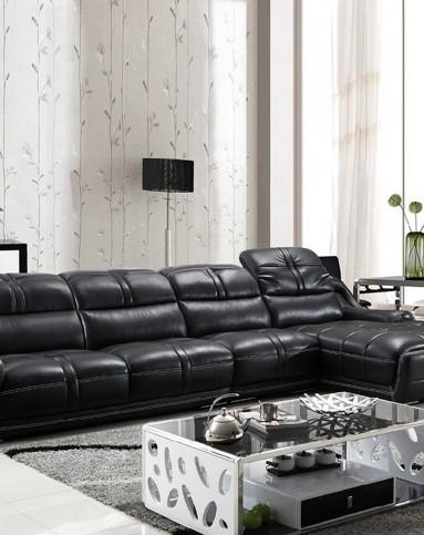 客廳大戶型皮沙發