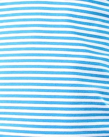女童蓝白条纹长袖t恤假2件