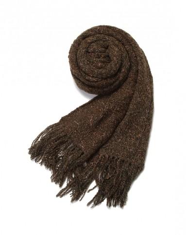绿驼花经典编织围巾