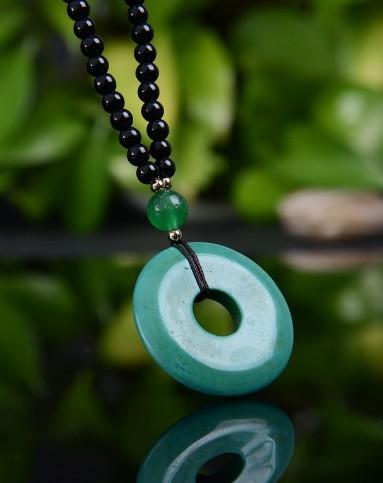 绿松石项链毛衣链