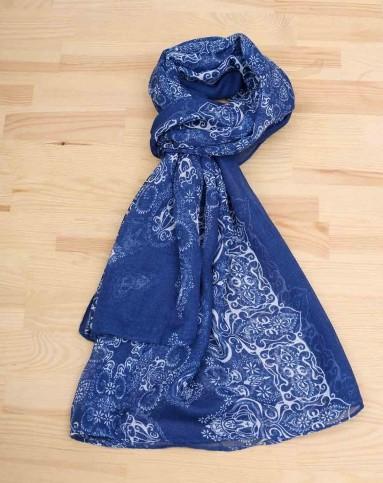 青花瓷围巾(深蓝)