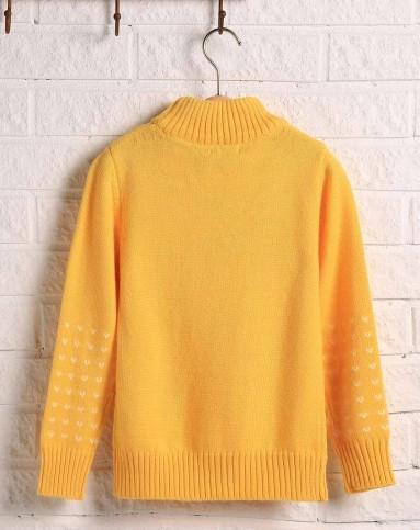 儿童黄色毛衣