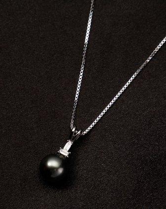 女款优雅大气海水珍珠项链黑色