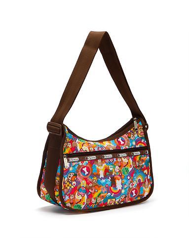 彩色时尚可爱卡通印图斜挎包