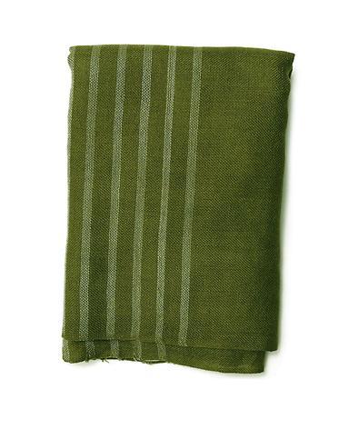 女款墨绿色/白色条纹时尚围巾