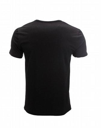 cesare paciotti 黑色极简柔和男士v领短袖t恤