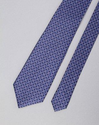 男款精美花纹领带蓝色