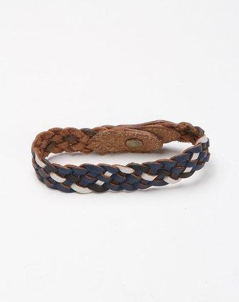 编织时尚深蓝色皮手环