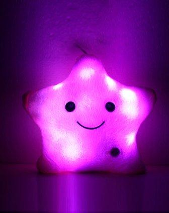 发光星星抱枕-粉色