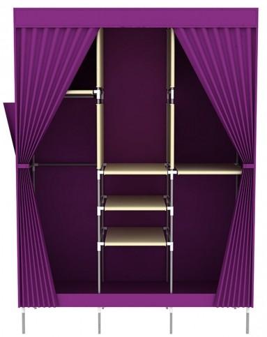 欧式窗帘时尚双拉门衣柜紫色