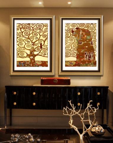 世界名画两联组合装饰画(生命之树)