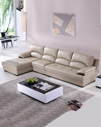真皮沙發簡約現代客廳組合淺灰色皮藝沙發-唯品會