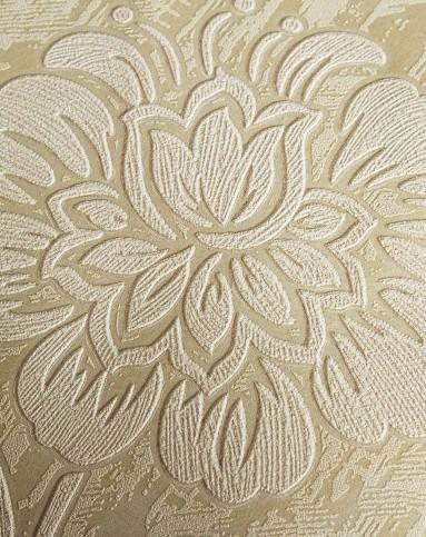 米黄欧式立体3d大花无纺布墙纸