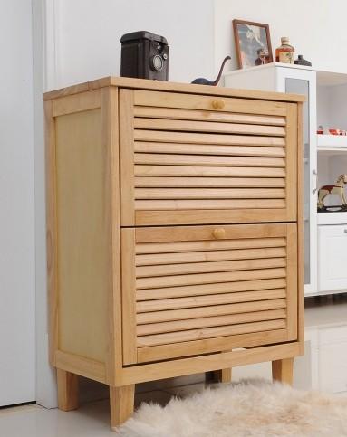 实木鞋柜图片
