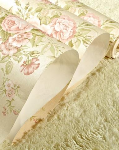 米黄色欧式田园浪漫高级无纺布墙纸