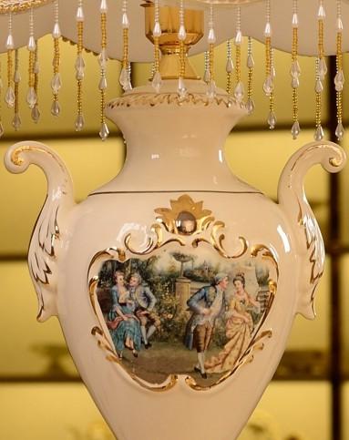 欧式描金陶瓷台灯