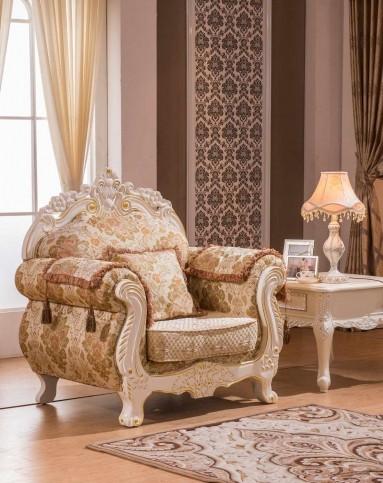 欧式布艺沙发实木雕花沙发组合(1 贵 3)