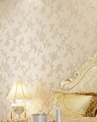 米黄色3d浮雕欧式简约风格立体壁纸