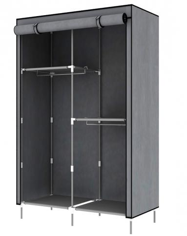 简易欧式大容量衣橱银灰色