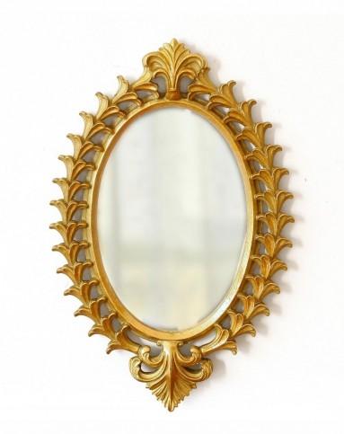 欧式复古镂空金色雕花装饰镜