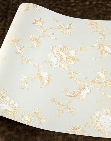 米黄色欧式简约小花立体无纺布墙纸